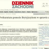 Człuchów - Prokuratura pomoże Brytyjczykom w sprawie zabójstwa. Ciało znalazł Jasnowidz.