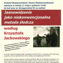 Instytut Bezpieczeństwa i Spraw Międzynarodowych - Jasnowidzenie jako niekonwencjonalna metoda śledcza