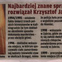 Najbardziej znane sprawy, które rozwiązał Krzysztof Jackowski