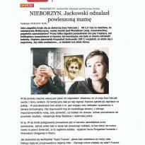Nieborzyn - Jackowski odnalazł powieszoną mamę