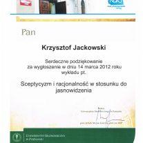 Podziękowania za wygłoszenie wykładu - Uniwersytet Ekonomiczny w Poznaniu