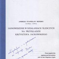 Praca Magisterska - Jasnowidzenie w działaniach śledczych na przykładzie Krzysztofa Jackowskiego - Uniwesytet Łódzki, Wydział Prawa i Administracji