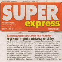 Super Express - Śledztwo krakowskich policjantów rusza pełną parą