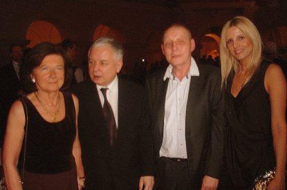 Krzysztof Jackowski wraz z małżonką oraz Świętej Pamięci para prezydencka Lech i Maria Kaczyński