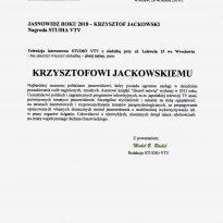 Jasnowidz Roku 2018 - Krzysztof Jackowski, Nagroda STUDIA VTV