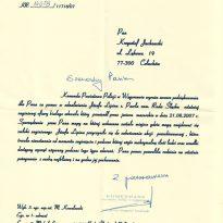 Komenda Powiatowa Policji w Węgorzewie - Podziękowania dla Krzysztofa Jackowskiego