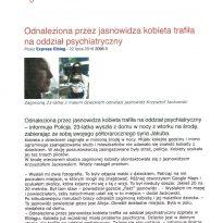 Odnaleziona przez jasnowidza kobieta trafiła na oddział psychiatryczny