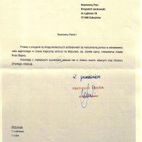 Podziękowania - Prezydent Miasta Ruda Śląska