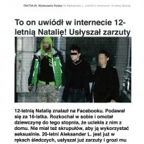 To on uwiódł w internecie 12-letnią Natalię Usłyszał Zarzuty. Dziewczynkę pomógł odnaleźć Krzysztof Jackowski