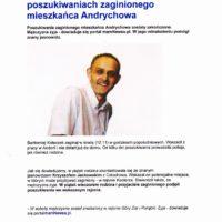 Znany jasnowidz pomógł w poszukiwaniach zaginionego mieszkańca Andrychowa