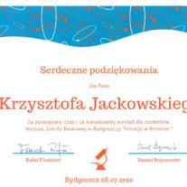 Podziekowania - Wyższa Szkoła Bankowa w Bydgoszczy